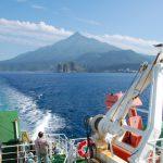 海から見る利尻岳